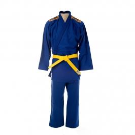 Kimono Judô Trançadinho Krav Sports Azul  Infantil