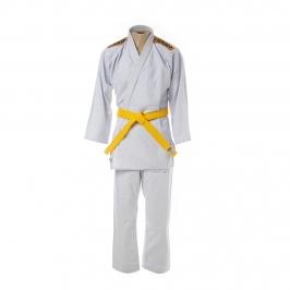 Kimono Judô Trançadinho Krav Sports Branco Adulto